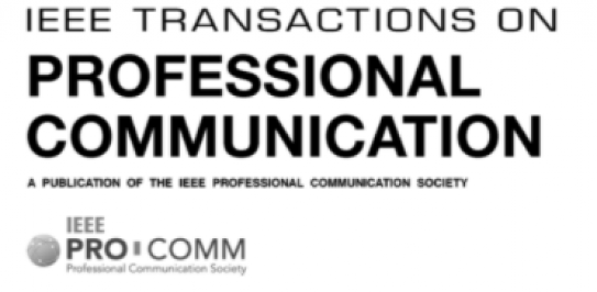 IEEE Transactions on Professional Communication (2018) logo