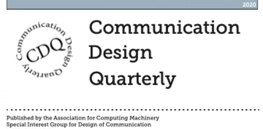 Communication Design Quarterly (2020) logo