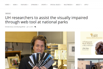 Screenshot of the UH researchers to assist the visually impaired through web tool at national parks article