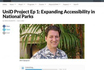 Screenshot of the UniD Project Ep 1: Expanding Accessibility in National Parks article