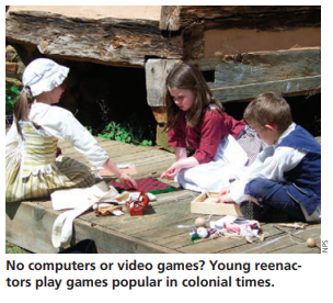 IMAGE: Young Reenactors section image
