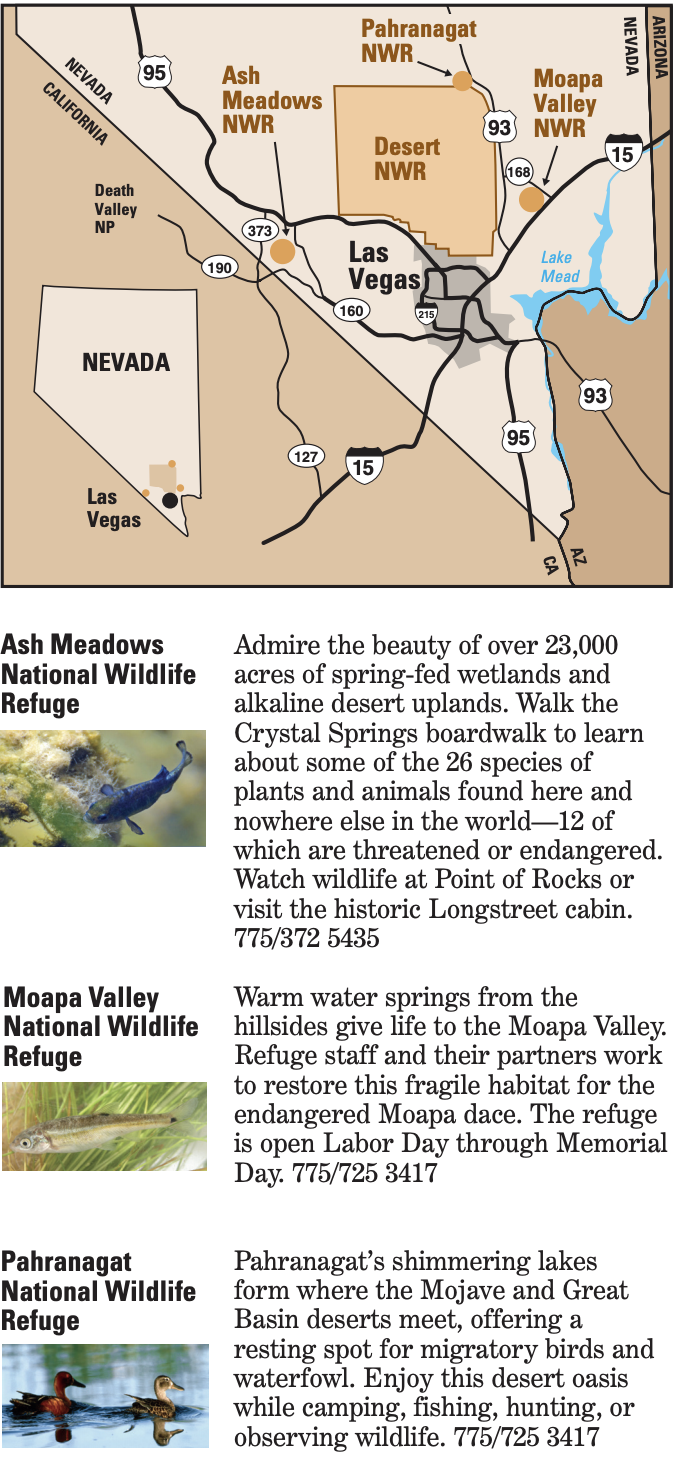 IMAGES, MAP, TEXT: Visit nearby refuges section image
