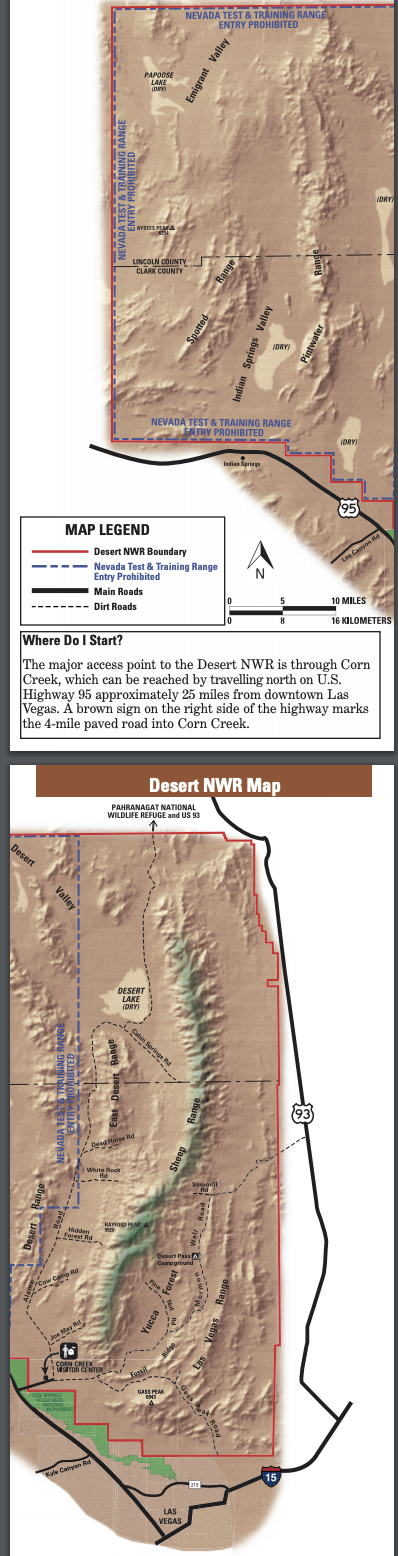 MAP AND TEXT: Desert NWR Map section image